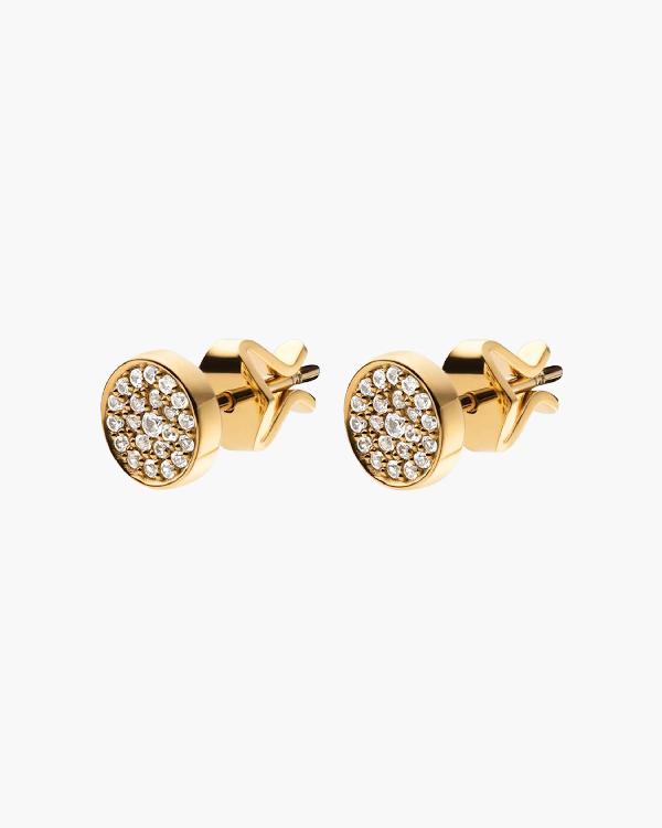 Miansai Horizon Stud Earrings In Yellow Gold