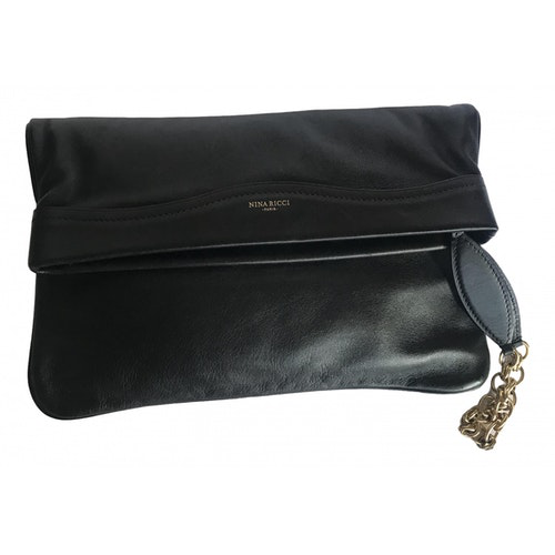 Nina Ricci Black Leather Clutch Bag
