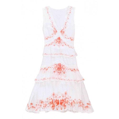 Vilshenko White Silk Dress