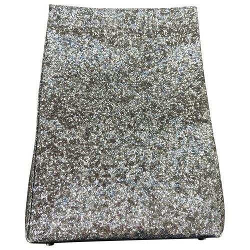 Simon Miller Small Lunch Bag Silver Glitter Clutch Bag