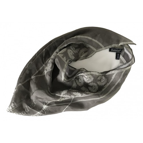 Belstaff Grey Silk Silk Handkerchief