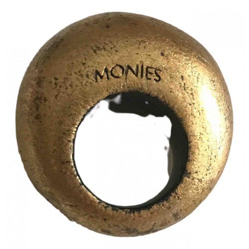 Monies Gold Wood Ring