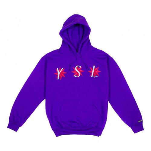 Saint Laurent Purple Cotton Knitwear & Sweatshirts