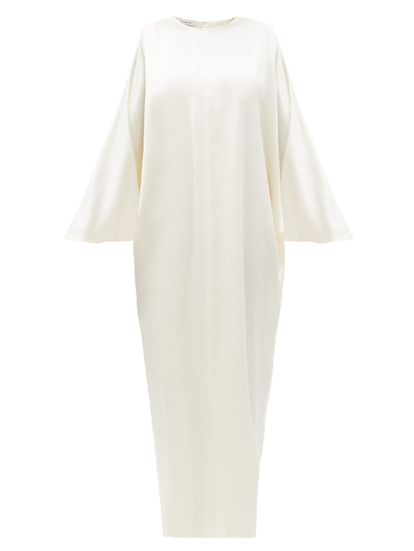 La Collection Epione Silk-charmeuse Maxi Dress In Ivory