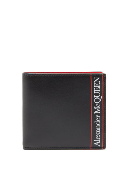 Alexander Mcqueen Black & Red Signature Bi-fold Men's Wallet