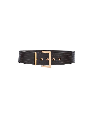 Ottod'ame High-waist Belt In Dark Brown