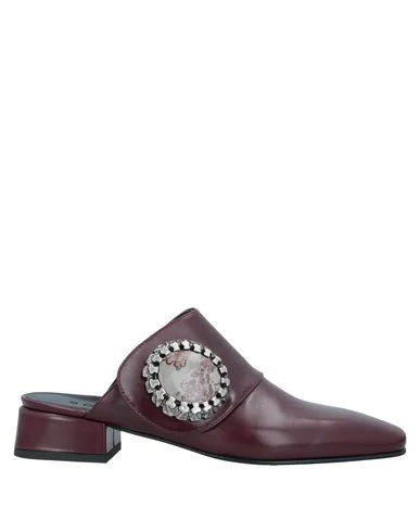 Boyy Mules And Clogs In Maroon
