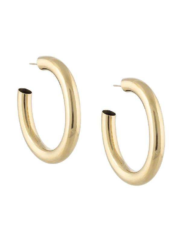 Laura Lombardi Curve Hoop Earrings In Gold