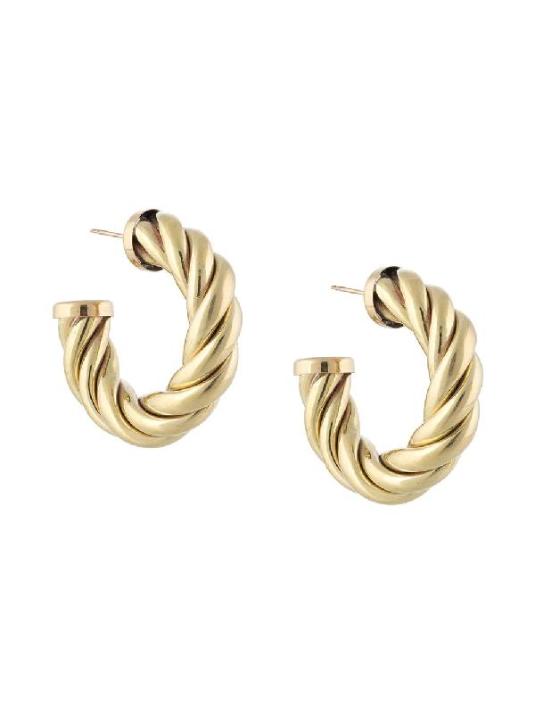 Laura Lombardi Spira Hoop Earrings In Gold