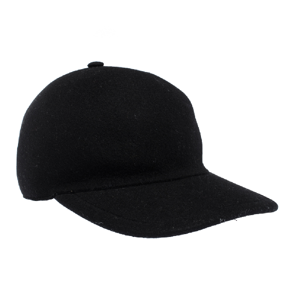 Burberry Black Wool Moulded Baseball Cap S