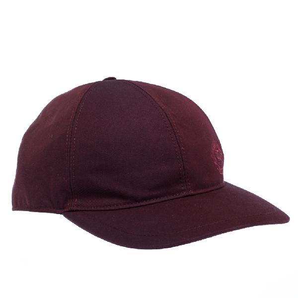 Burberry Burgundy Cotton Boysenberry Crest Cap M/l