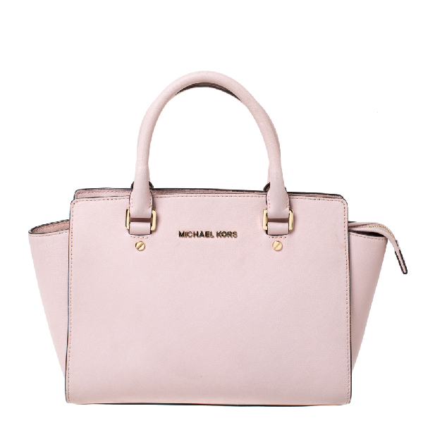Michael Kors Michael  Blossom Pink Leather Medium Selma Satchel