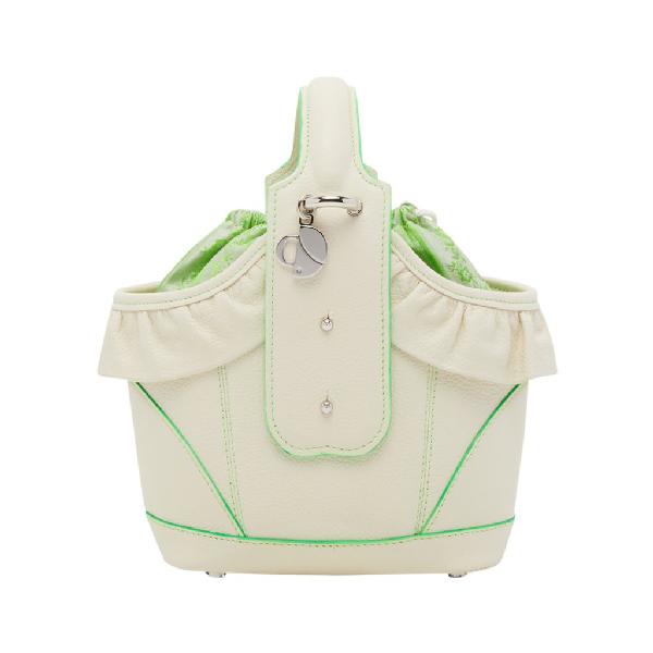 Chiara Daverio Mirandola In White And Green