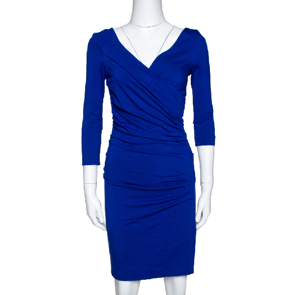 Diane Von Furstenberg Cobalt Blue Jersey Bentley Short Dress P