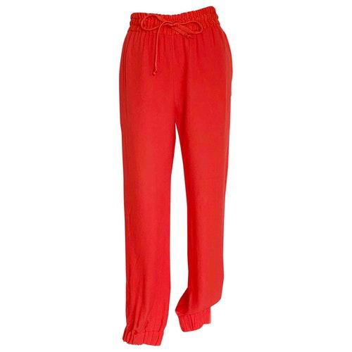 Dries Van Noten Orange Trousers