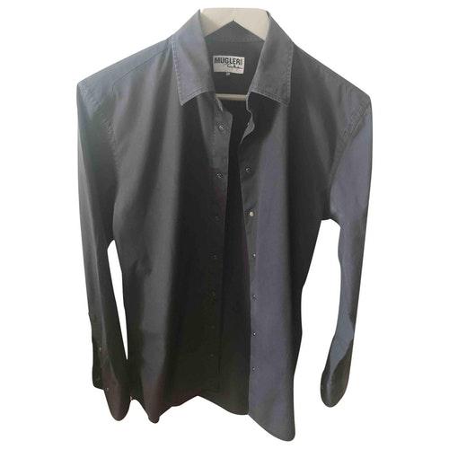 Mugler Black Cotton Shirts