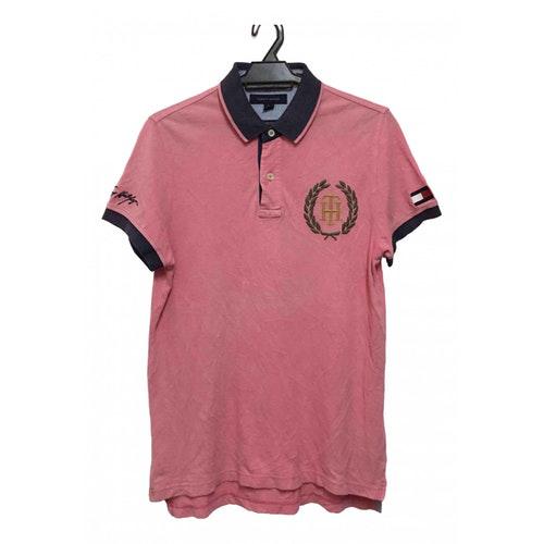 Tommy Hilfiger Pink Cotton Polo Shirts