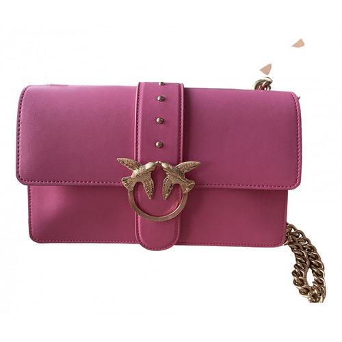Pinko Love Bag Pink Leather Handbag