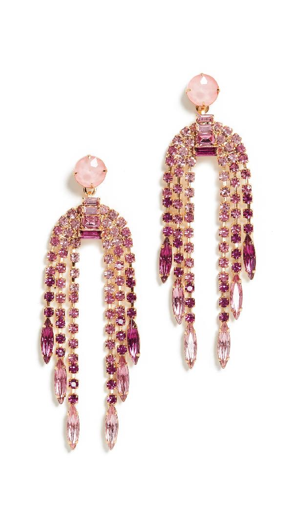 Elizabeth Cole Dorothy Earrings In Pink