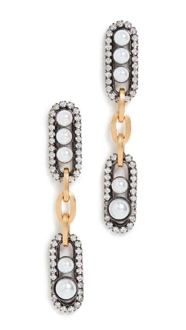 Elizabeth Cole Everson Earrings In Pearl