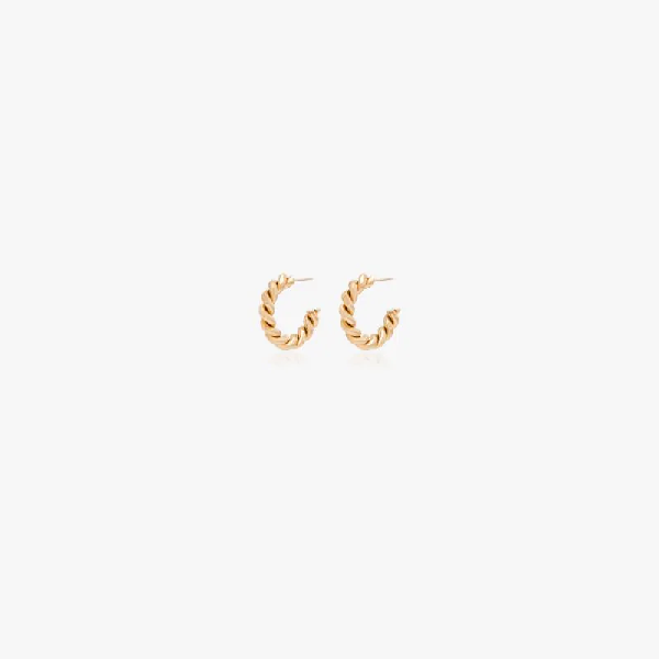 Laura Lombardi Gold Tone Mella Twist Hoop Earrings