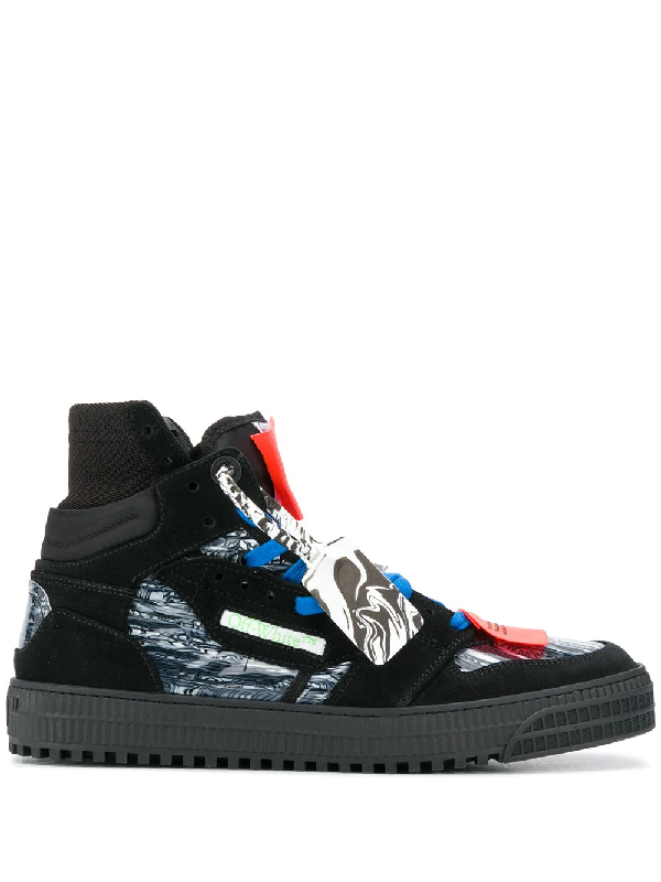 Off-white Black Court Suede High Top Sneakers