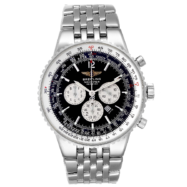 Breitling Navitimer Heritage Black Dial Automatic Mens Watch A35340 In Not Applicable
