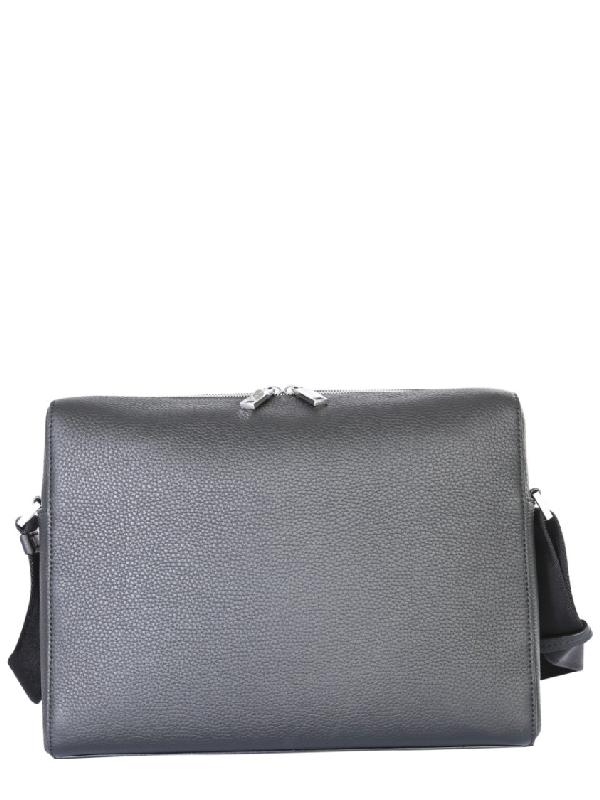 Hugo Boss Black Leather Messenger Bag