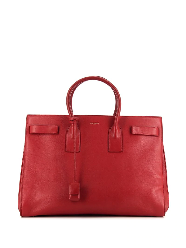 Saint Laurent Large Sac De Jour Tote Bag In Red