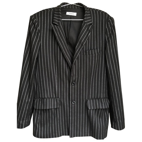 Danielle Guizio Black Wool Jacket