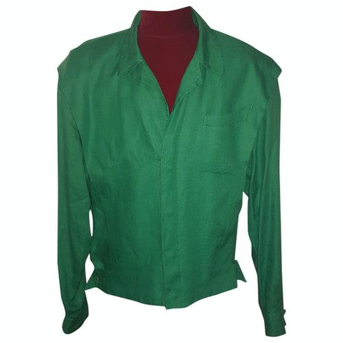 Mugler Green Linen Jacket