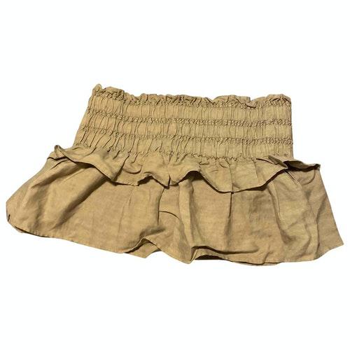 Isabel Marant Green Linen Skirt