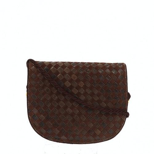 Bottega Veneta Brown Leather Clutch Bag