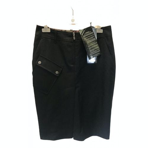 Belstaff Black Wool Skirt
