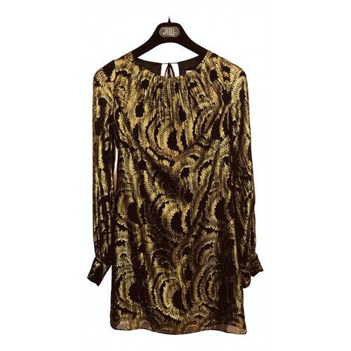 Milly Gold Silk Dress