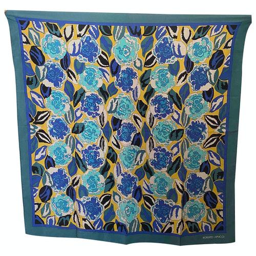 Roberto Capucci Blue Silk Scarf