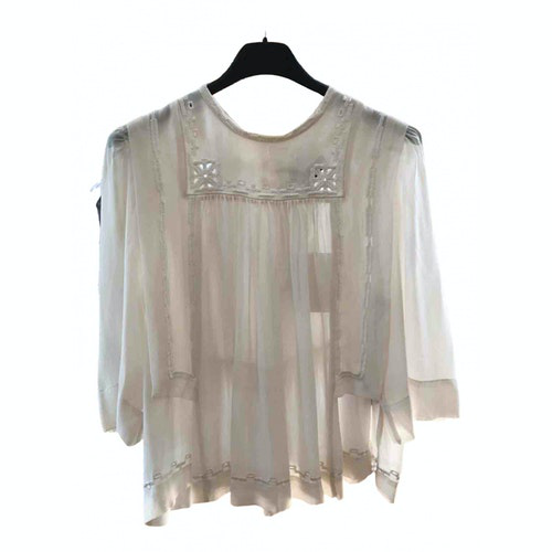Isabel Marant White Silk  Top