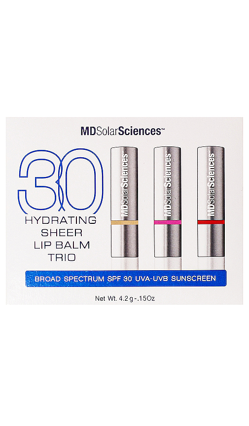 Mdsolarsciences Hydrating Sheer Lip Balm Trio Spf 30 In N,a