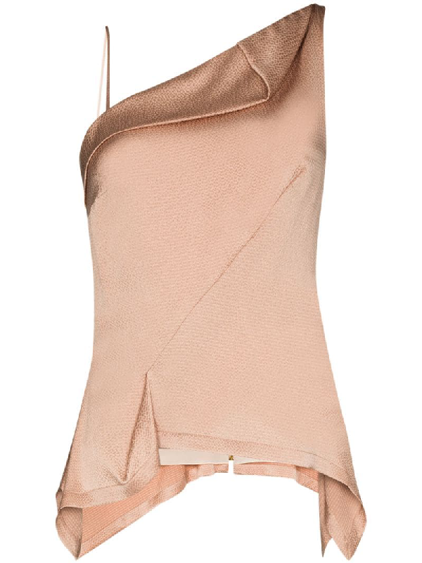Roland Mouret Fira Draped Top In Pink