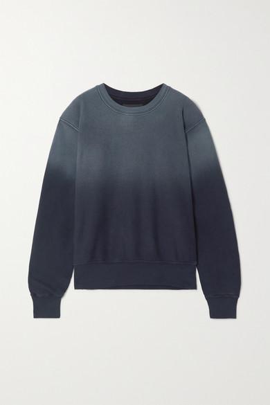 Les Tien Ombré Cotton-jersey Sweatshirt In Navy