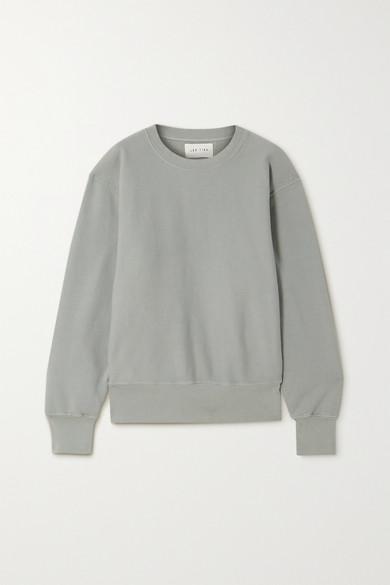 Les Tien Cotton-jersey Sweatshirt In Gray