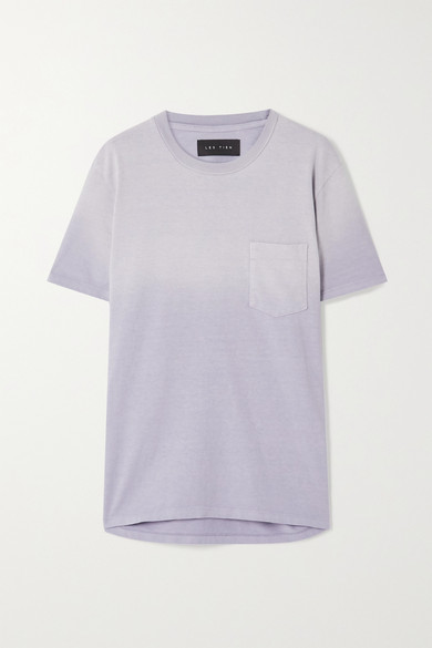 Les Tien Ombré Cotton-jersey T-shirt In Lilac