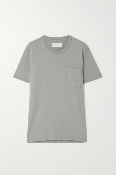 Les Tien Cotton-jersey T-shirt In Green