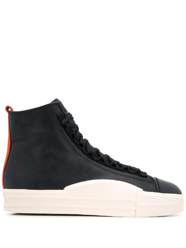 Y-3 Contrast Pull-tab Sneakers In Black