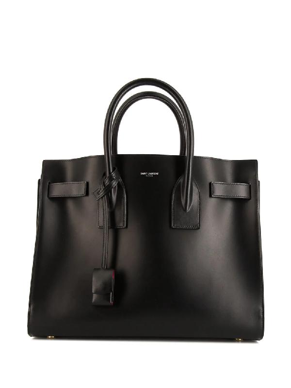 Saint Laurent Sac De Jour Handbag In Black