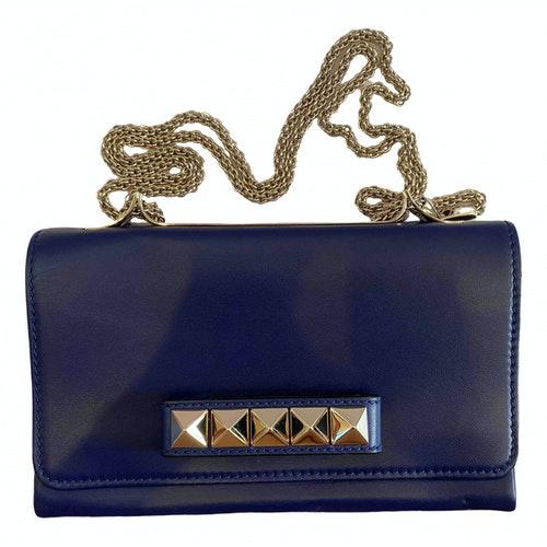 Valentino Garavani Rockstud Blue Leather Handbag