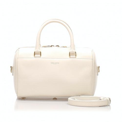 Saint Laurent White Leather Handbag