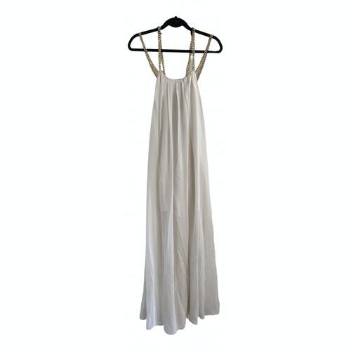 Pierre Balmain White Silk Dress