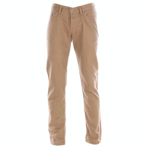 Naked & Famous Beige Cotton Jeans