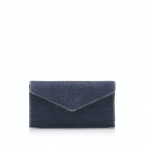 Saint Laurent Blue Cloth Clutch Bag